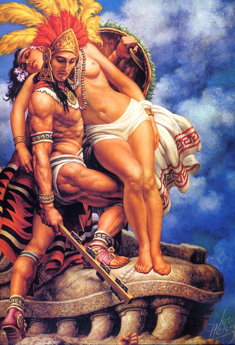 Azteca Greatness I by Jesus Helguera