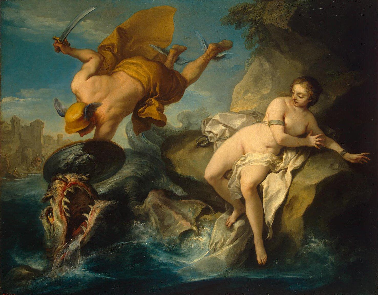 Perseus And Andromeda by Charles Van Loo